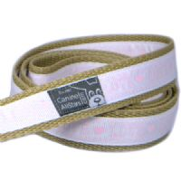 DOG LEAD - LOVE PINK AND WHITE (RIBBON 16mm)